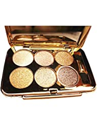 Glitter Eyeshadow Palette,6 Colors Sparkle Eye Shadow...