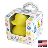 CelebriDucks The Good Duck Yellow Rubber Ducky Teether Made in USA