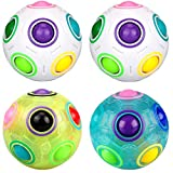 Dreampark Magic Rainbow Ball, [4 Pack] Puzzle Ball Game Fidget Cube Toy for Kids and Adults