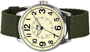 db3727223a06 J-AXIS ミリタリーナイロンベルト腕時計 サンフレイムの人気ウォッチ ユニセックス グリーン AG1265