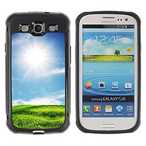 Pulsar Defender Series Tpu silicona Carcasa Funda Case para SAMSUNG Galaxy S3 III / i9300 / i747 , Nature Beautiful Forrest Green 4