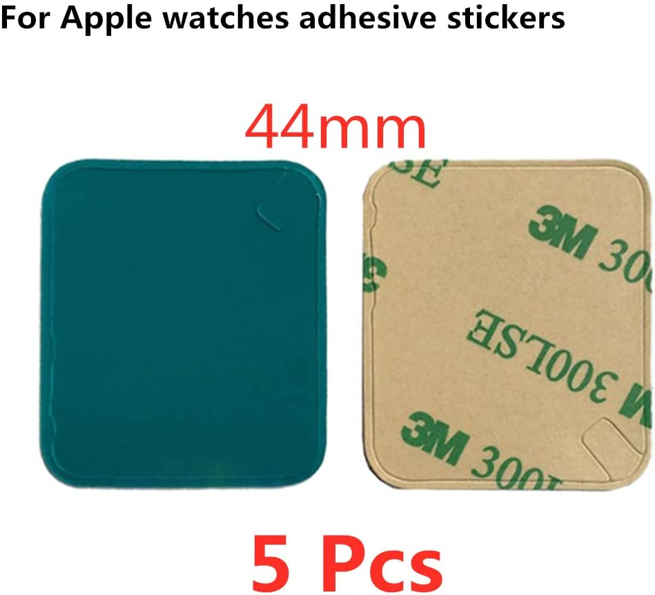 5 Pack Rear Case Housing Adhesive Strips Waterproof Tape Glue Replacement for Apple Watch (4 Generation) and Series 4 Replacement Pre-Cut Front LCD Sticker for Apple Watch (44mm)
