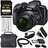 Nikon COOLPIX B700 Digital Camera 26510 + Rechargable Li-Ion Battery + Sony 32GB SDHC Memory Card + Soft Carrying Case + Pro Hand Camera Grip + HDMI Cable + Card Reader + Memory Card Wallet Bundle