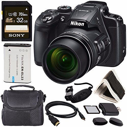 Cheap Nikon COOLPIX B700 Digital Camera 26510 + Rechargable Li-Ion Battery + Sony 32GB SDHC Memory Card + Soft Carrying Case + Pro Hand Camera Grip + HDMI Cable + Card Reader + Memory Card Wallet Bundle