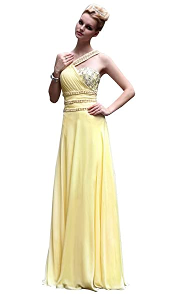 Passat Womens Muslim Formal Dresses Maternity Prom Gowns Size US8 Color Yellow