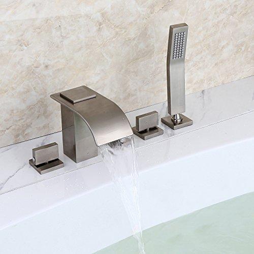 Lovedima Brushed Nickel Waterfall Faucet Pull Down