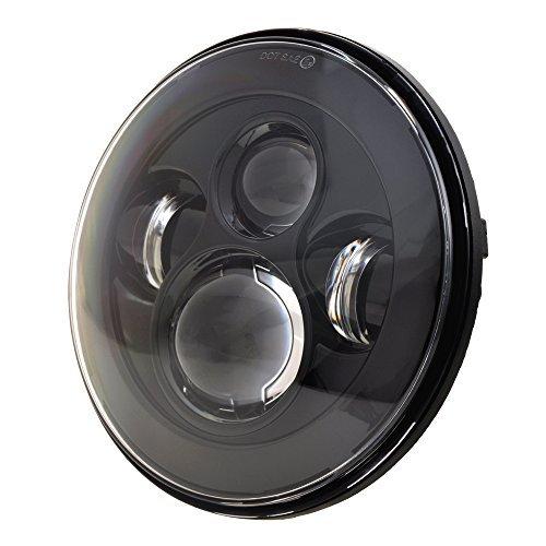LX-LIGHT-7-Round-Black-Cree-LED-Headlight-High-Low-Beam-for-Jeep-Wrangler-JK-TJ-LJ-CJ-Hummber-H1-H2-Pair