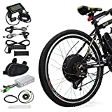 "8. Voilamart 26"" Rear Wheel Electric Bicycle Conversion Kit, 48V 1000W E-Bike Motor Kit with LCD Display, Intelligent Controller and PAS System, 750W Power Limited for Road Bike"