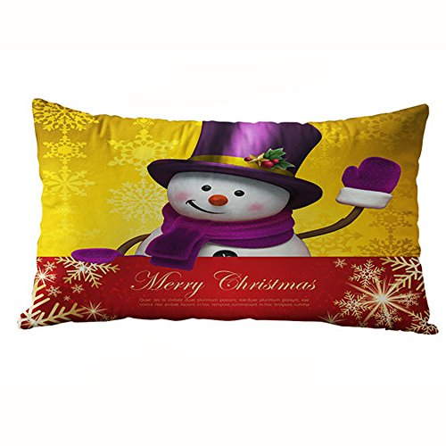 Halloween Costumes U Can Make Home (Hot Sale!! Auwer Christmas Rectangle Cotton Linter Pillow Case Cushion Cover Waist Throw Durable Decorative For Sofa,Bed,Chair,Auto Seat,Home Decor Festival Gift Pillowcase (U))