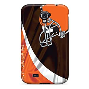 Durable Cell-phone Hard Cover For Samsung Galaxy S4 (Mjd10190ucrG) Provide Private Custom Stylish Cleveland Browns Image