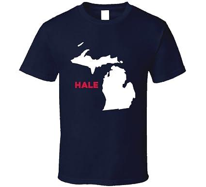 Amazon Com Hale Michigan City Map Usa Pride T Shirt Clothing