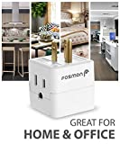 3 Outlet Wall Adapter Tap (3 Pack), Fosmon 3-Prong