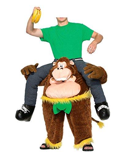Gardenwin Riding On Me Chicken Orangutan Beer Man Horse Costume (Man Riding Chicken Costume)
