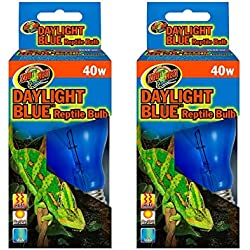 Zoo Med 2 Pack Daylight Blue Reptile Bulb - 40 Watts