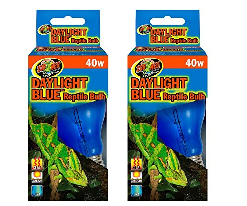 Zoo Med 2 Pack Daylight Blue Reptile Bulb - 40 - Zoo Reptile Bulb Day Med