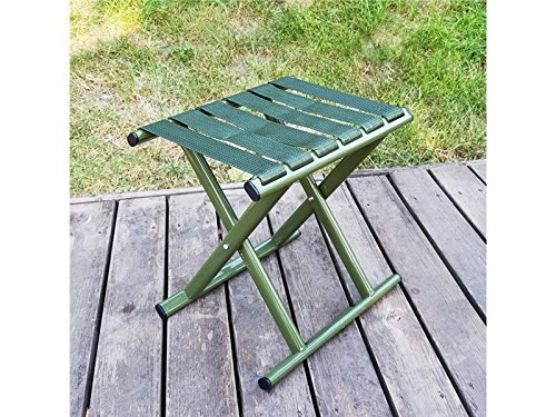 Pullic Portable Frame Folding Stool Outdoor Mazar Chair for Camping Fishing Travel(Army Green) by Pullic