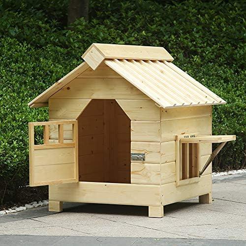 猫用ベッド ビッグドッグハウス木造住宅デラックスペットホーム屋内/屋外の木製の猫ハウスシェルター 猫ハウス (Color : No rain cloth, Size : XXL)