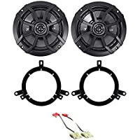 Kicker 6.5 Rear Door Speaker Replacement Kit For 1996-1998 Jeep Grand Cherokee