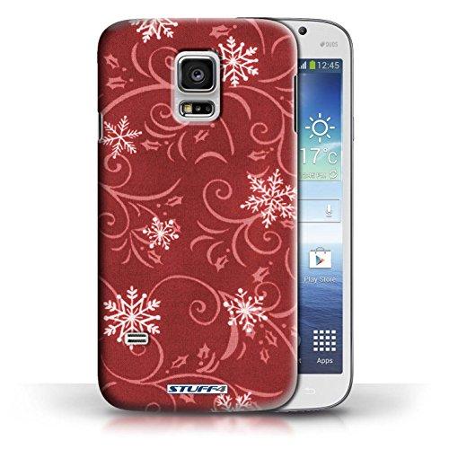 pour Samsung Galaxy S5 Mini / Rouge conception / Collection de Motif flocon de neige