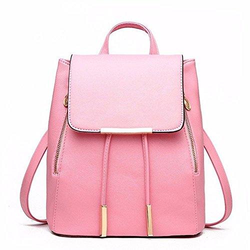 per Backpack rosa viaggio ragazza blu Shoulder pelle in donna sintetica Gxinyanlong e AOqHw