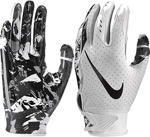 (NIKE Youth Vapor Jet 5.0 Receiver Gloves 2018 (White/Black, Large))