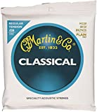 Martin M220 80/20 Bronze Plain End Classical Guitar Strings, Regular Tension