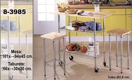 DonRegaloWeb - Verdulero - Carro de cocina - mesa con 2 taburetes ...