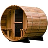 Almost Heaven Saunas Audra Canopy Barrel Sauna (4 person)