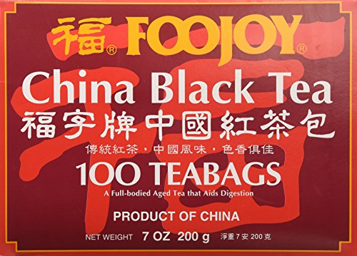 Foojoy China Black Tea - 100 Tea Bags 1 Foojoy China Black Tea Fresh tea leaves are carefully fermented to create a mellow tasting tea with an attractive reddish infusion 100 Tea Bags