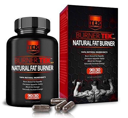 BurnerTEKTM Natural #1 Rated Fat Burner - 12 Fat Burning Ingredients, 90 Pills, 30 Day Supply - Lose Weight, Energy & Stamina (Best Fat Burning Ingredients)