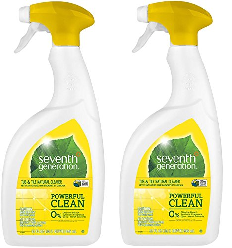 Seventh Generation Natural Tub & Tile Cleaner - Emerald Cypress & Fir - 32 oz (Pack of 2) (Natural Bathroom Tiles)