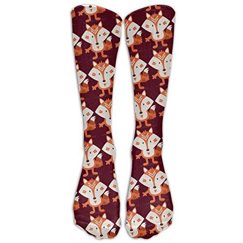 Embrace The Fox Unisex Knee High Comfortable Fashional Gift Crew Socks (Womens Wool Shirt Crew 2)