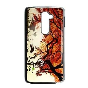LG G2 Cell Phone Case Black Autumn HY2452213