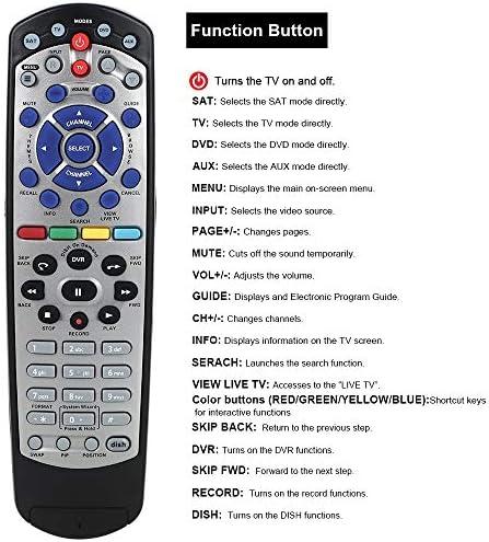 Used Lot Of 2 Dish Network 5.0 IR Remote TV1 Green Key 311 522 622 722 942