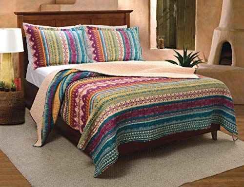 (Greenland Home Southwest Quilt Set, 3Piece King/California King, Gold)