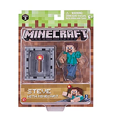 Minecraft Series 3 Wave 1 Steve with Minecraft Pack by Jazwares - Import