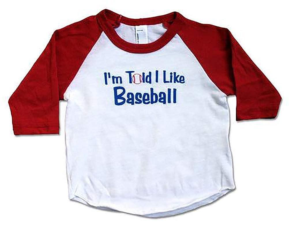 MyLullabug Im Told I Like Baseball Graphic Baby /& Toddler Long Sleeve Shirt