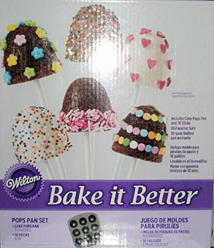 Amazon.com: Wilton Bake It Better Cake Pops Pan Kit: Novelty Cake Pans: Kitchen & Dining