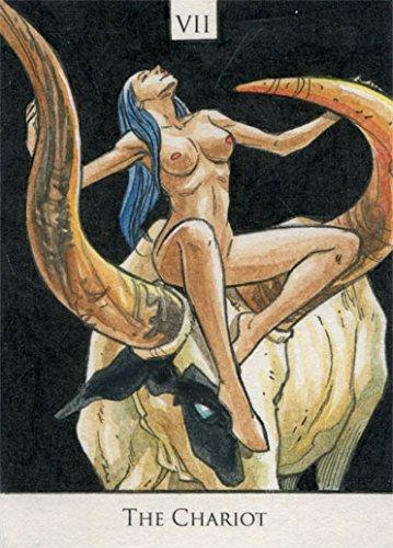 Penny Dreadful Season 1 Sketch Card Tarot VII The Chariot by Tirso Llaneta