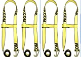 BA Products Wheel Lift Strap (4) 2'' Flat Hook 2 piece Quick Pick Strap #38-JD5 x 4 Jerr-Dan