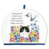 Alice's Cottage Cat and Swallows Cotton Tea Cozy Cosy