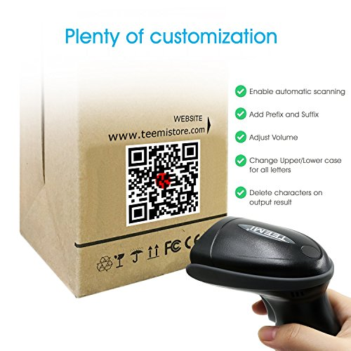 UPGRADED TEEMI TMSL-55 QR Bluetooth Barcode Scanner USB wireless Automatic 2D PDF417 Data Matrix image reader for Apple iOS, Android, Windows 10, Mac OS device by TEEMI (Image #4)