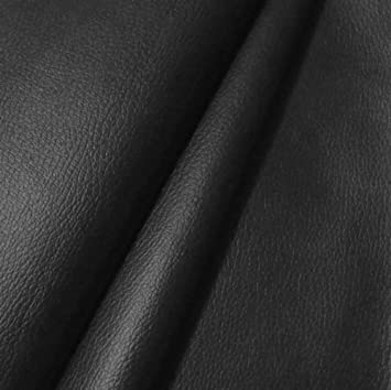 Cuir Synthétique PVC d ameublement - couleur  NOIR structure cuir Vache f99fe826644