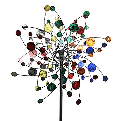 Kinetic Wind Sculpture - MJ Spinner Designs Confetti Style Kinetic Wind Garden Spinner