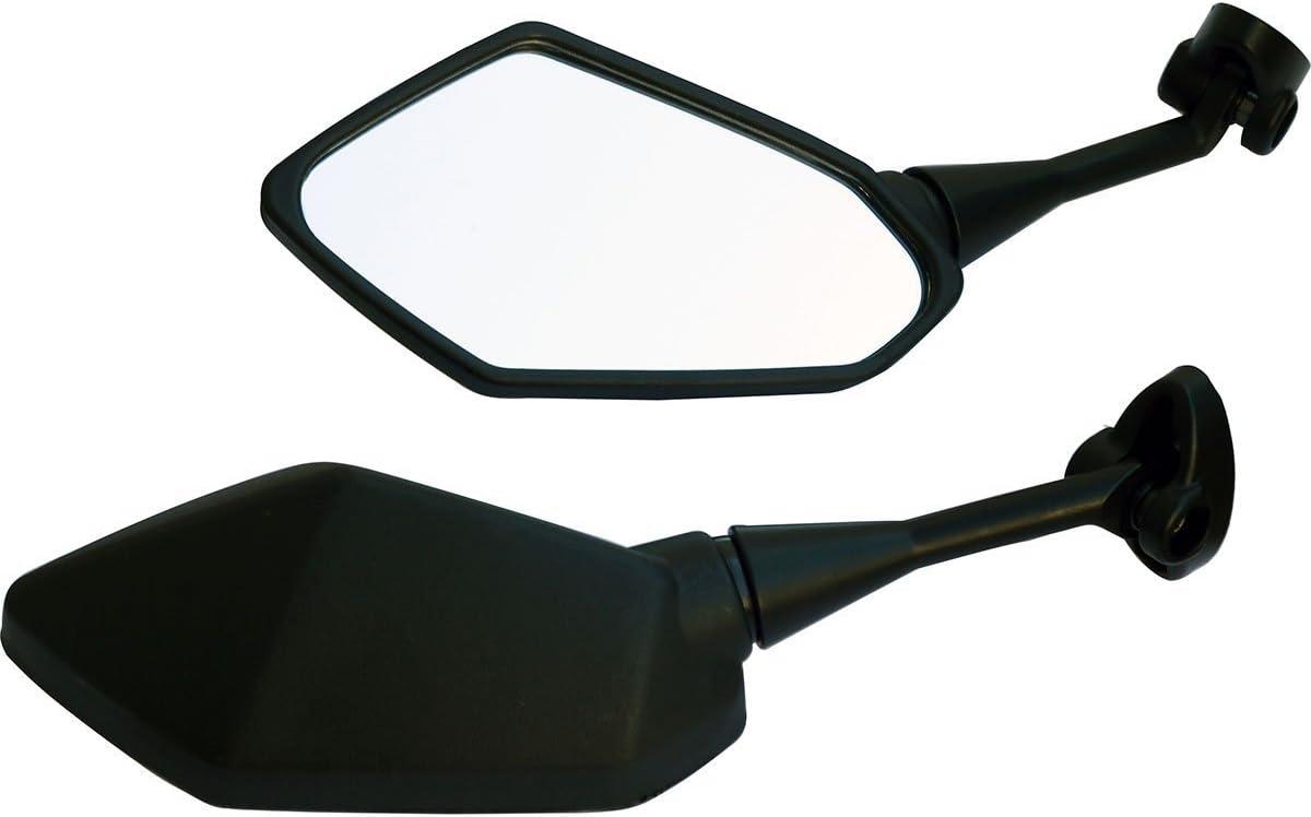 One Pair Black Sport Bike Mirrors for 2000 Kawasaki Ninja 500R EX500D