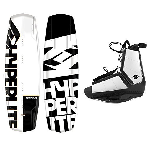 Hyperlite Wakeboard Agent 2019 with Destroyer Wakeboard Bindings Fits Most Shoe Sizes