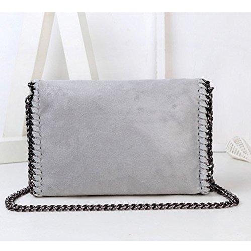 Small Borsa tracolla Grey Fashion Grey Messenger Wild a per catena ragazze donne a Borse Casual X0qSawzz
