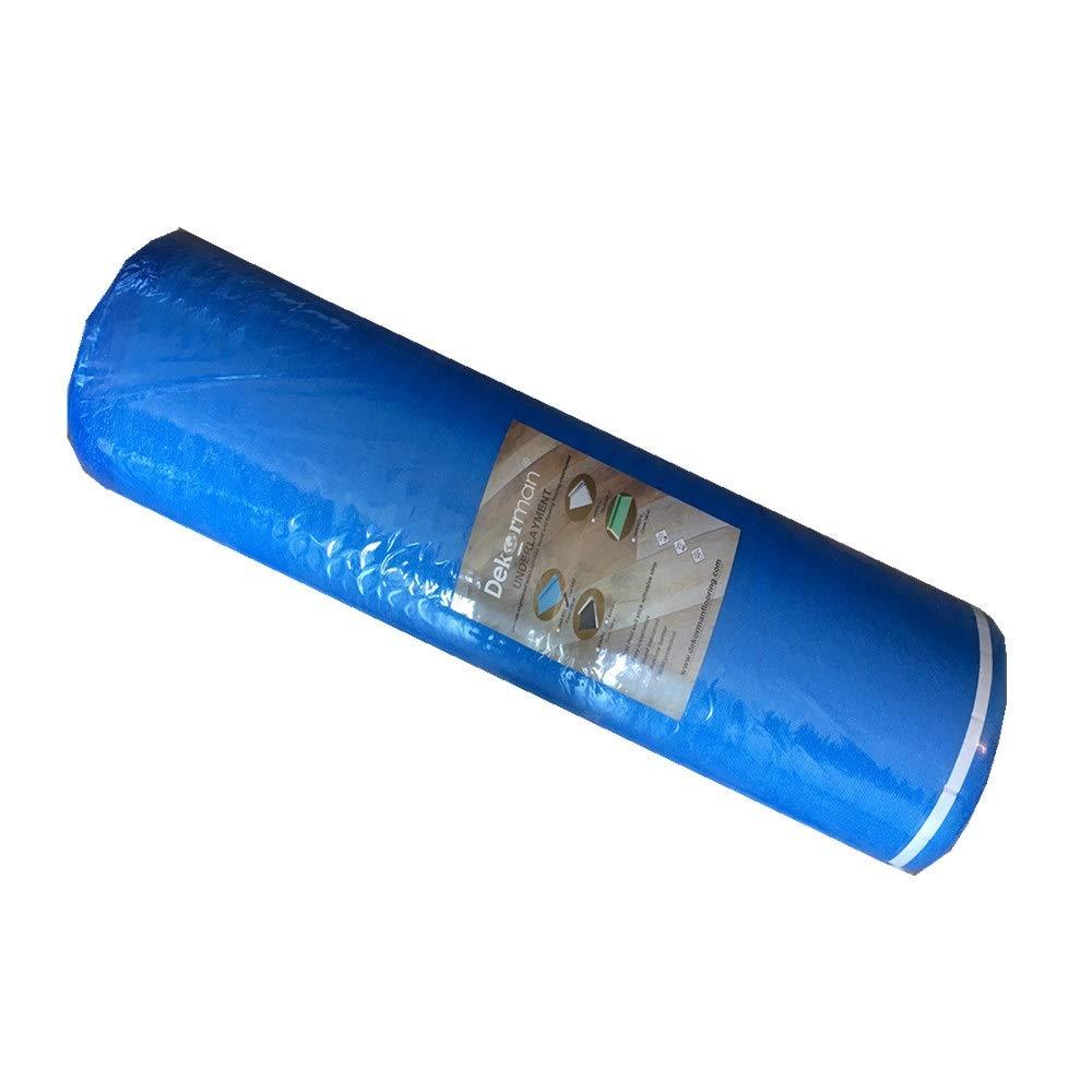 Dekorman 3BF 3mm Thickness Foam Underlayment, 200 Sqf Per Roll, Blue