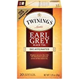 Twinings of London Decaffeinated Earl Grey Black Tea Bags, 20 Count