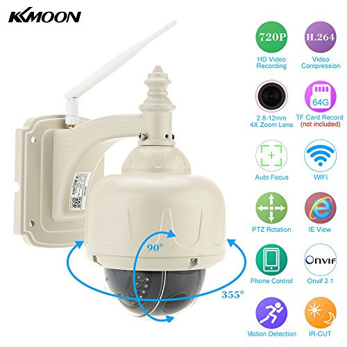 KKmoon Wireless WiFi HD 720P Pan Tilt IP Camera Auto-focus P